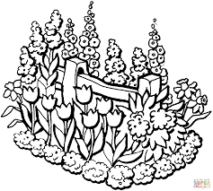 Small Picture Beautiful Garden in summer coloring page Free Printable Coloring