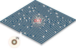 fast escape of a quantum walker from an integrated photonic maze nature communications