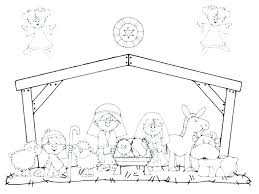 Nativity Coloring Pages Printable Creative Nativity Scene Coloring