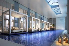 Indoor swimming pool design Amazing Austin Elite Home Design Modern Indoor Swimming Pool Designs With Floating Sidepool Beds