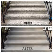spring update resurfaced repainted concrete steps