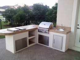 Simple Outdoor Kitchen The Best Outdoor Kitchen With Barbecue Designs Orchidlagooncom