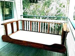 porch swing bed plans hanging daybed diy pl