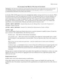 Astm Standards For Concrete Mix Design Standards For Mixing Water In Concrete Nrmca Org Pages 1