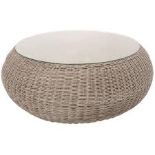 new round ottoman coffee table rattan tables uk patio with inspirations 11