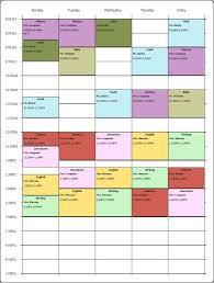 free schedule builder schedule maker excel excels download