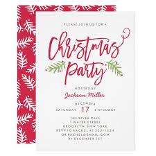 Christmas Invitation Ideas Modern Brush Script Christmas Holiday Party Invitation Christmas