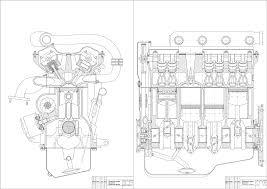 Курсовые и дипломные работы автомобили расчет устройство  Чертежи Автомобильный двигатель КП