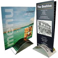 Restaurant Table Top Display Stands Leaflet display stand UK Sign holders Design POS POP 16