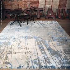contemporary rug patterned silk tibetan wool