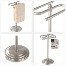 hand towel rack stand holder metal standing bathroom kitchen decor storage