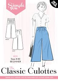 Culottes Pattern Simple The Simple Sew Classic Culottes
