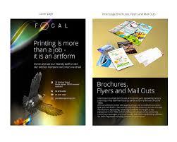 Design Print Mail Australia Professional Upmarket Printing Flyer Design For Focal