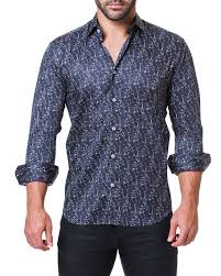 Maceoo Size Chart Mens Fibonacci Marble Black Shaped Fit Sport Shirt
