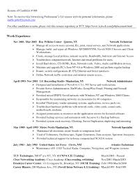 Network Technician Resume Samples Engineer Example Cisco Security