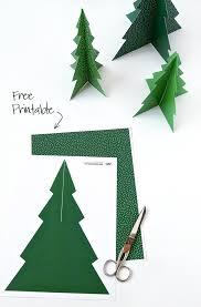 Free Printable Pine Tree Forrest Christmas Tree Template