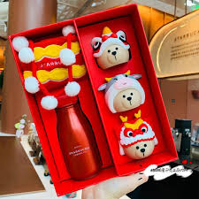 Chinese new year or spring festival 2021 falls on friday, february 12, 2021. Starbucks ƘŸå·´å…‹ China 2021 Chinese New Year Cow Ox Year Lion Dance 237ml Thermal Flask Bottle Set Kitchen Appliances On Carousell