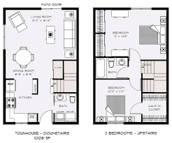 2 bedroom townhouse. two bedroom townhouse floor plans   - talent parkside apartments 2