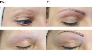 Permanentní Make Up Technikou Vláskování Dokreslení Chloupků Obočí