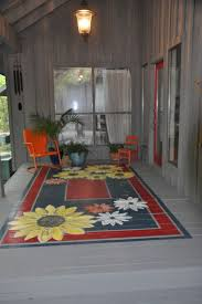 A painted porch rug is a great way to add color and design!