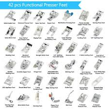 42 Pcs Presser Feet Set With Manual Adapter Simpzia Sewing Machine Foot Kit Compatible With Brother Babylock Janome Singer Elna Toyota New