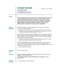 Resume Template Student College Resume Templates For College Students Template Business