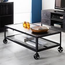 black metal industrial coffee table