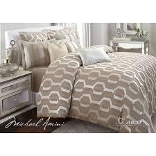 michael amini como taupe 9pc queen comforter bedding set by aico
