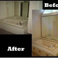 bath tub wrap and frame mirror