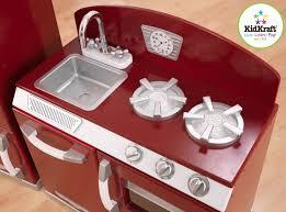 Retro Play Kitchen Set Kidkraft 2 Piece Red Retro Kitchen And Refrigerator Walmartcom