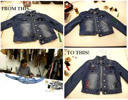 i had the opportunity to learn how to make a distress denim jacket at first i just wanted to do the basic so i purposely didn t put in so many details