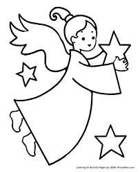 Small Picture Easy Pre K Christmas Coloring Pages Christmas angel and stars