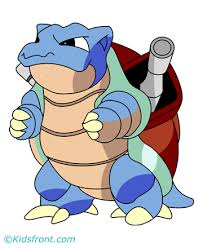 Small Picture Blastoise Coloring Pages for Kids to Color and Print