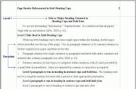 Collection Of Solutions Apa Format Paper Headings Sample Reflection