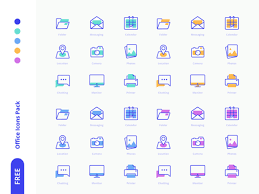 18 Free Office Icons Svg Sketch Formats Freebiesbug