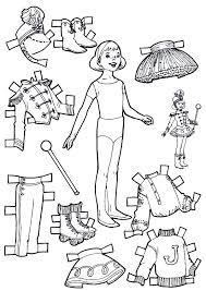 Small Picture 95 best Paper Dolls Coloring Art Print Pages Colouring for Adults