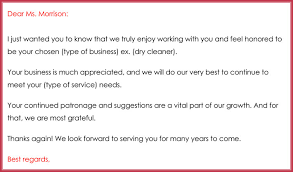 Email Thank You Letter Template Fascinating Customer Thank You Email Best Samples Examples Writing Tips