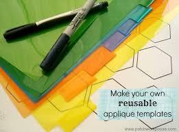How to Make Your Own Plastic Hexagon Template - & plastic applique templates Adamdwight.com