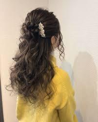 平原さんのヘアスタイル ハーフアップアレンジ Tredina