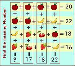 find missing number riddle apple apple banana strawberry bhavini com