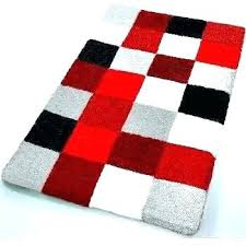 gray bath mat red and gray bathroom rugs plush bathroom rugs checker pattern rich multi color