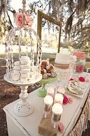 Shabby Chic, Vintage Sweets Table, ruffled cake, burlap cake