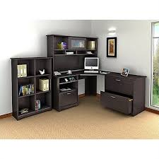 image office furniture corner desk. bush cabot 4 piece lshaped computer desk office set in espresso oak image furniture corner