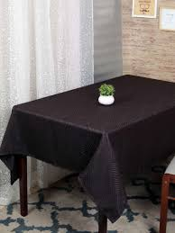 rangrage coffee brown self design table cover