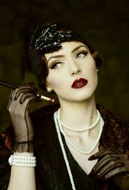 the roaring 20 s was a time of speakeasies burlesque flapper s and the charleston 1920s great gatsby style 1920s flapper hair and makeup