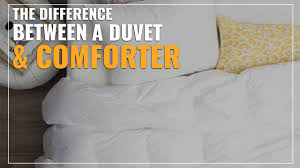 difference between duvet and comforter