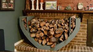 ... Indoor Firewood Rack Baskets Design: Interesting Indoor Firewood Rack  Design ...