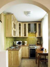 Creative Small Kitchen Best Small Kitchen Design With Creative Wall And Wooden Cabinet