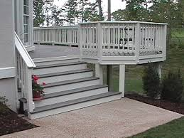gray composite decking. Brilliant Composite Trex Stairs Made From Gray Decking Painted Composite Risers But  Careful In Gray Composite Decking K