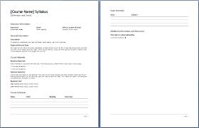 weekly syllabus template teacher s syllabus plan template formal word templates